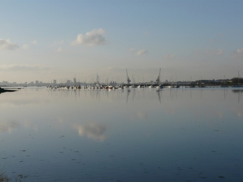 calm portsmouth harbour