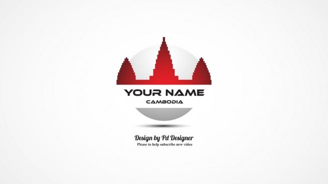 cambodia international flag design vector idea sign logotype identity concept