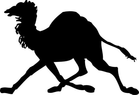 Camel Silhouette clip art