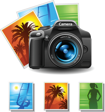 camera accessories design vector