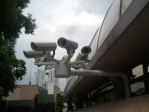 camera deployed in public area