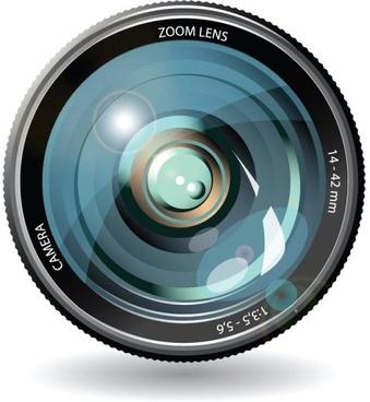 camera lens 05 vector