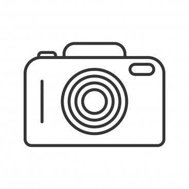 camera line black icon
