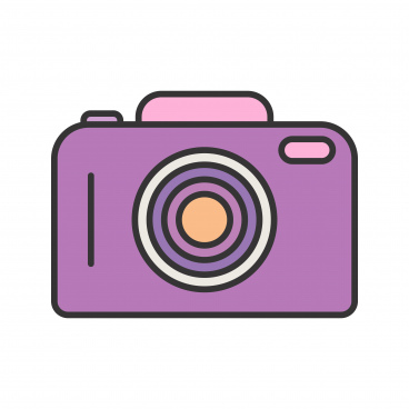 camera line filled icon