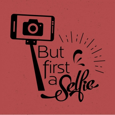 camera selfie advertising camera smartphone icons retro design