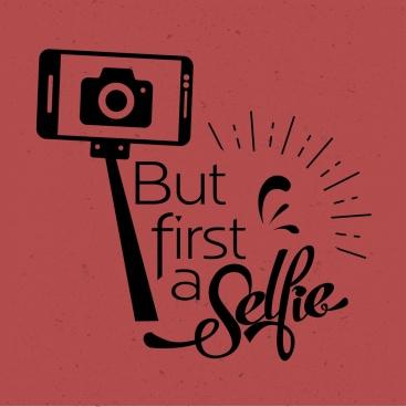 camera selfie advertising camera smartphone icons retro design