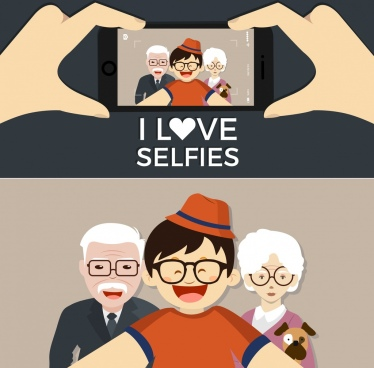 camera selfie advertising human photo smartphone screen icons