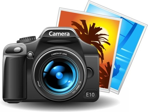 camera icon shiny modern 3d design