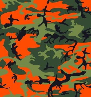 Camo Print - Hunter Orange