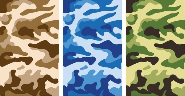 Camouflage Pattern Vector Graphics