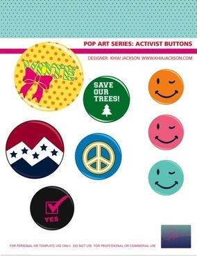 Campaign Button Vectors