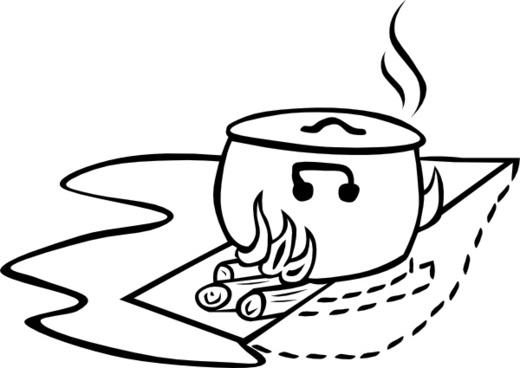 Campfires And Cooking Cranes clip art