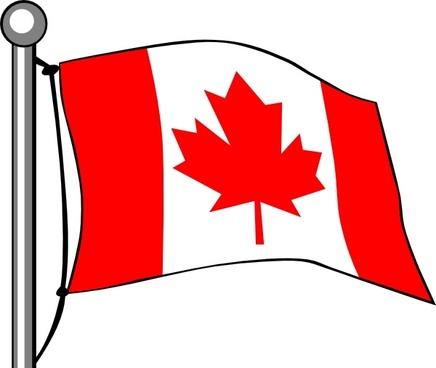 Canada Flag Flying clip art