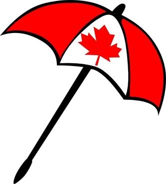 Canada Flag Umbrella clip art