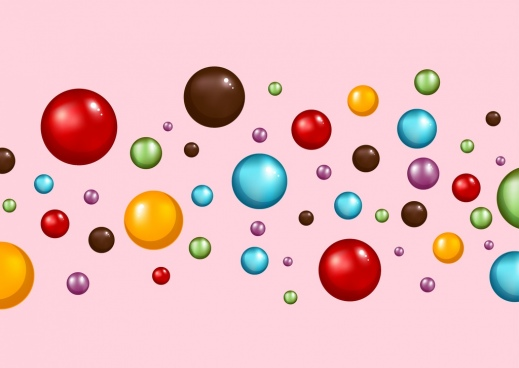 candies background multicolored shiny circles decoration