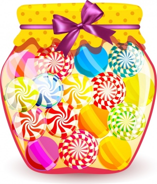 candies jar background shiny colorful decoration