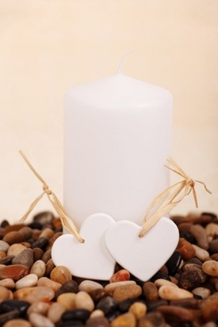 candle and hearts