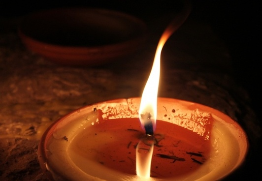 candle flame light
