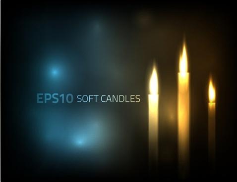 candle light background sparkling modern design