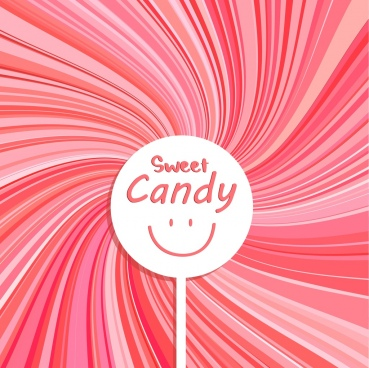 candy advertising pink twist backdrop facial round decor