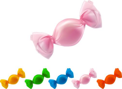 candy realistic multicolor