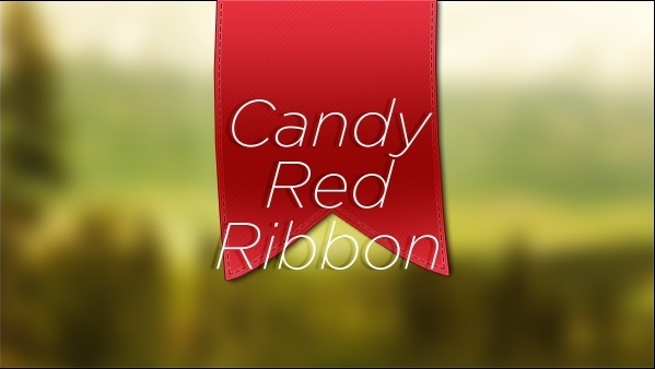 Candy Red Ribbon PSD