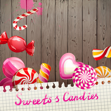 candy with sweet shop background vector