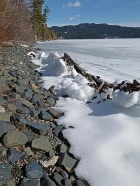 canim lake frozen ice
