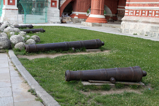 cannons st basils cathedral red square moscow