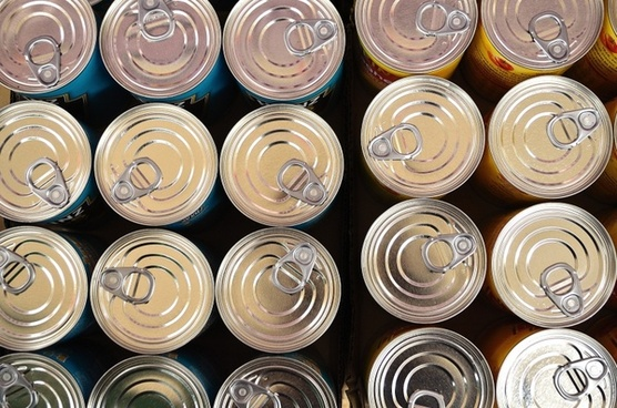 cans background lids
