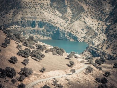 canyon coast desert environment geology lake