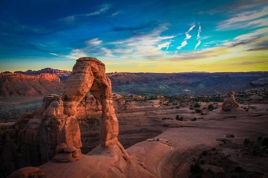 canyon desert evening geology landscape mountain