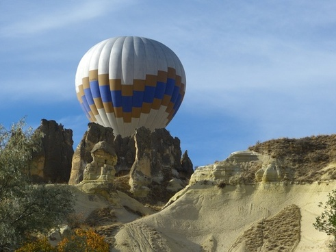 cappadocia hot air balloon tufa