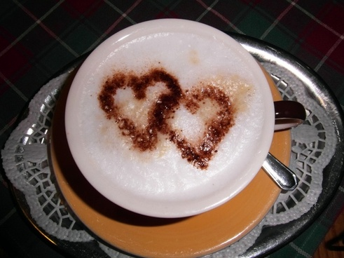 cappucino heart coffee