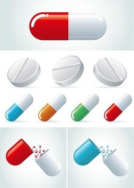 capsules vector