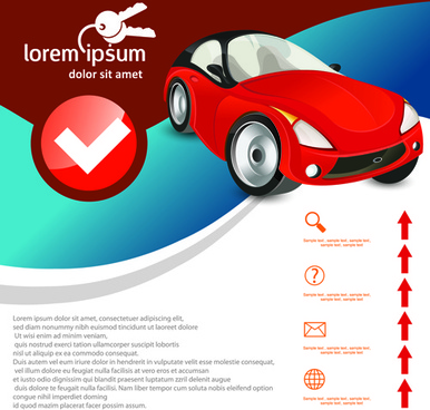 car advertising poster template design vector
