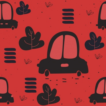 car backdrop red black repeating icons decor