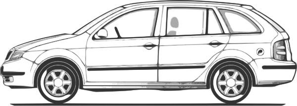 Car Compact Fabia Side View clip art