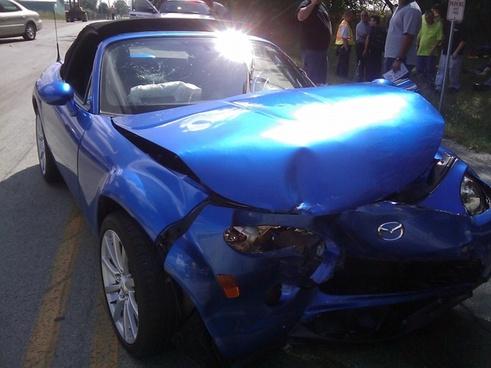 car crash drive