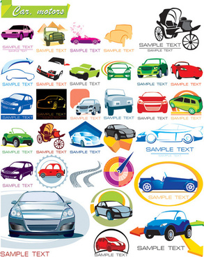 car graphic icons vector