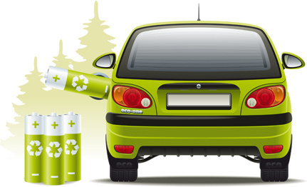 car hybrid design elements vector