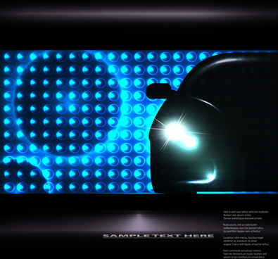 car lighting background vector