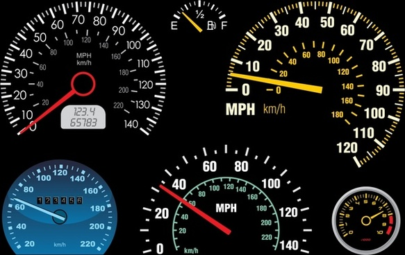 car speedometer templates modern flat design circle decor