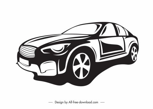 car mode icon black white handdrawn sketch