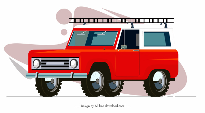 car model icon contemporary design
