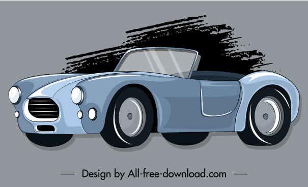 car painting grunge decor 3d classic sketch