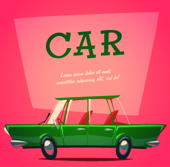 car poster design vector