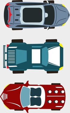 car sets design top view style