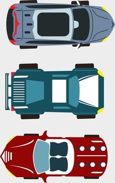 car sets design top view style