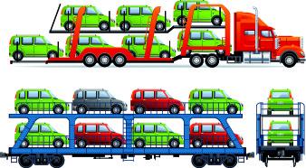 car transporter creative vector